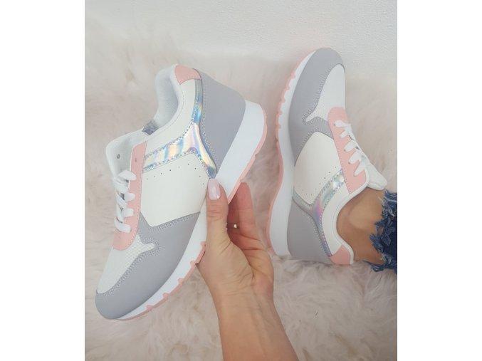 tenisky bílo růžové