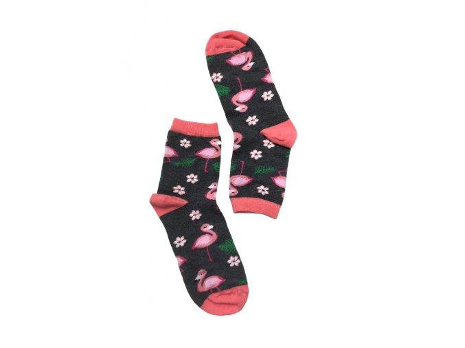 ponožky plamenák