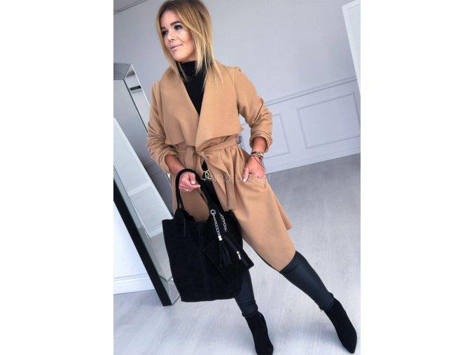 kabát béžový