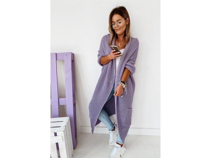 pletená vesta fialová