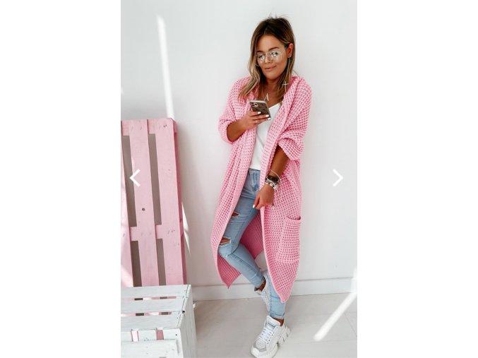 pletená vesta sv.růžová