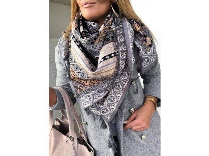 šátek andžela šedý