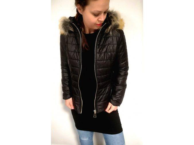 bunda černá kožíšek2