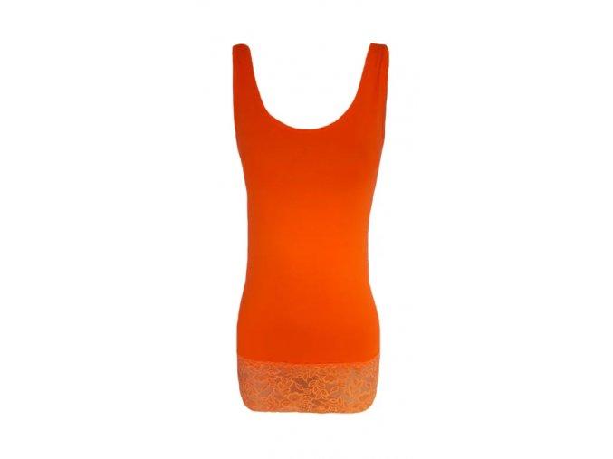 tílko oranžové dl.