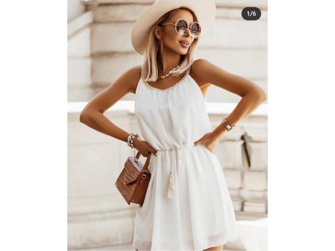 antik šaty bílé