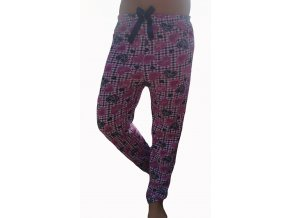 Dámské pyžamové kalhoty srdíčka