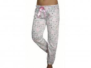 Dámské pyžamové kalhoty Zajíček- růžové