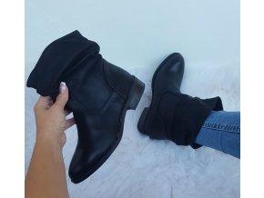 koženkové černé