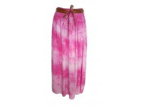 sukně batika růžová