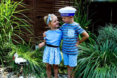 děti jako námořníci