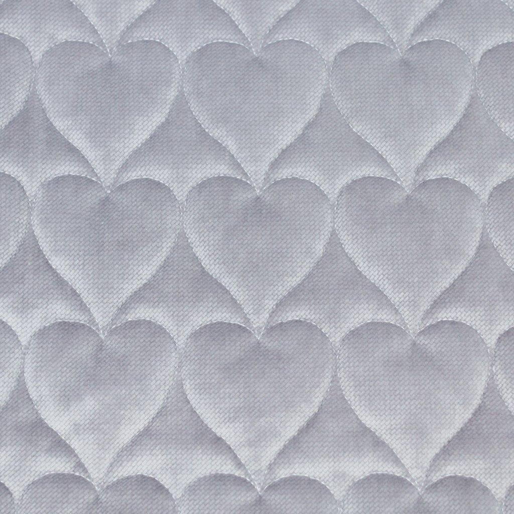 Velvet srdce - šedá