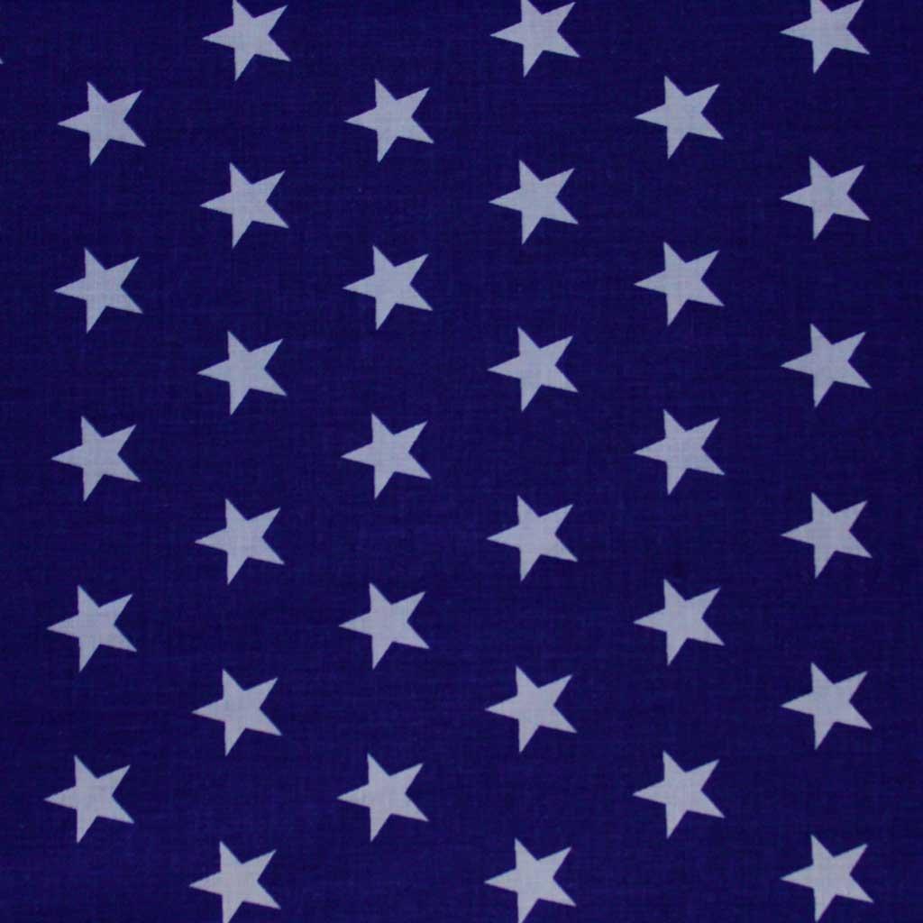 Bavlněná látka - hvězdy na modré