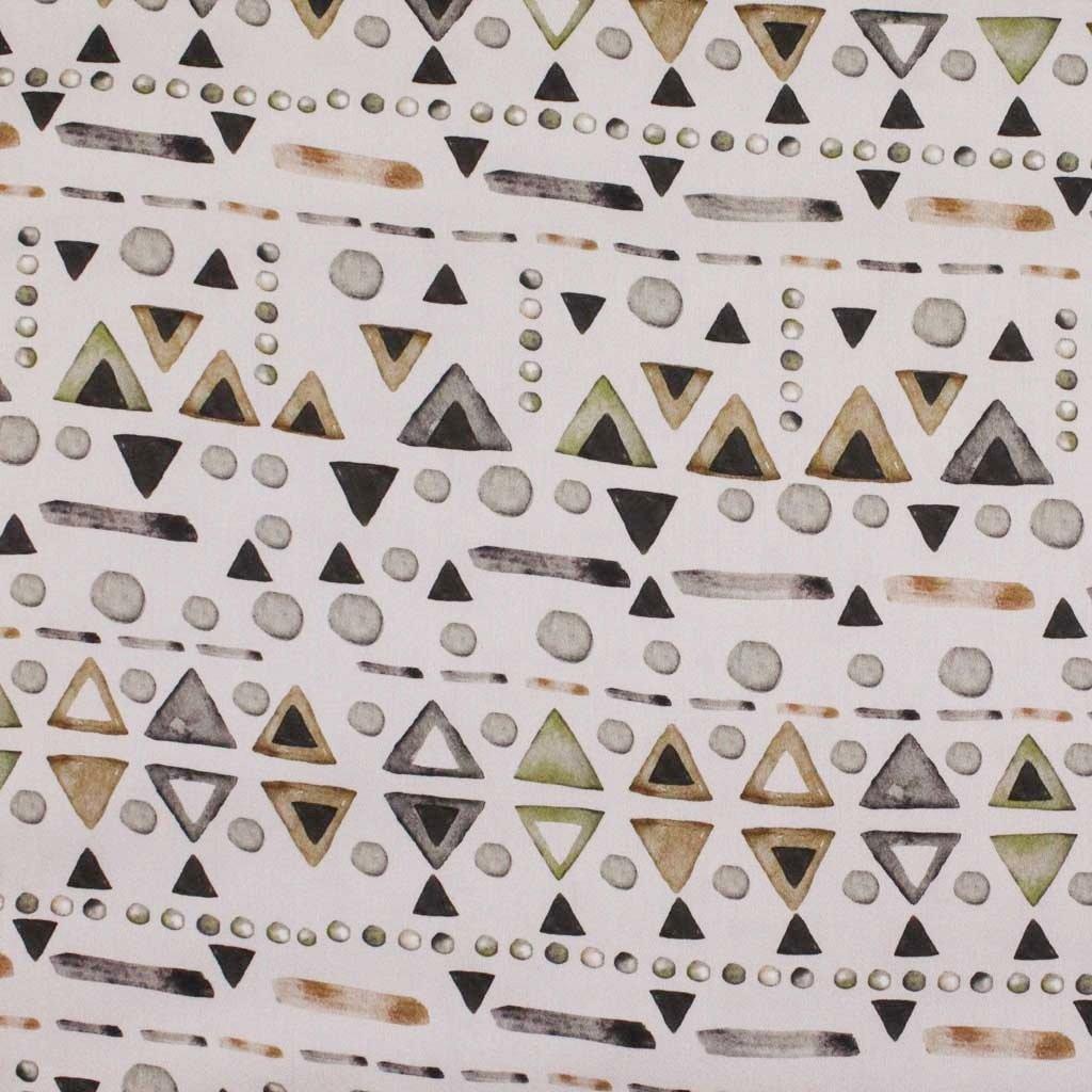 Bavlněná látka PREMIUM - trojúhelníky II. jakost