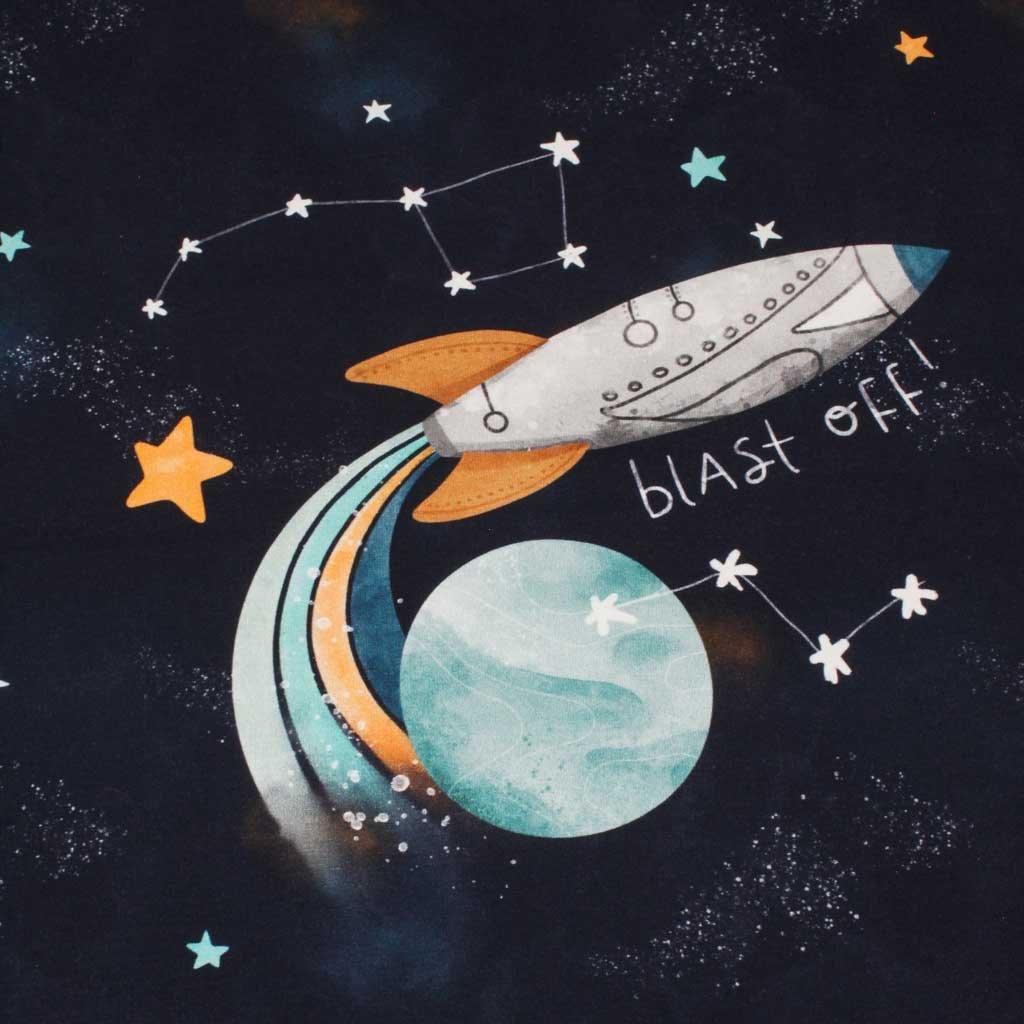 Panel teplákovina - Raketa tmavě modrá