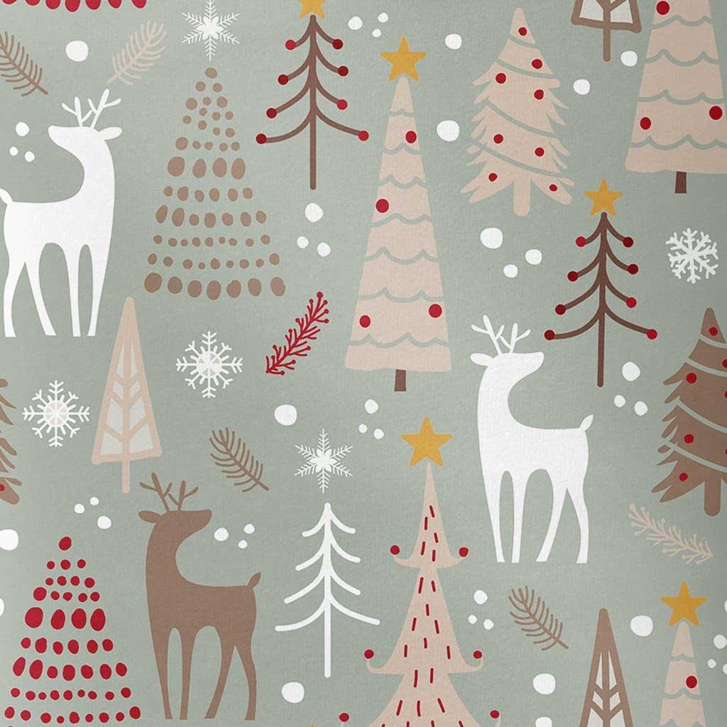 vánoční jeleni a stromy