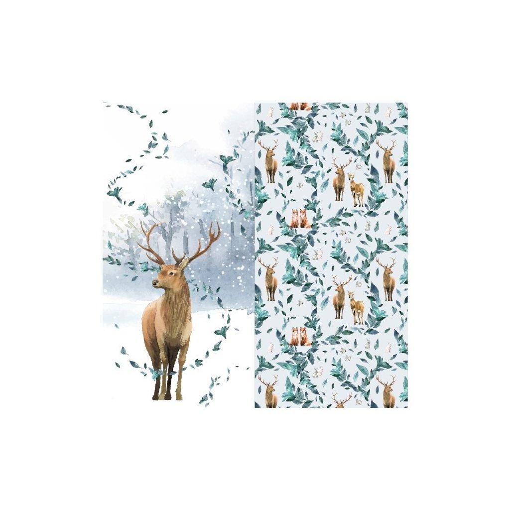 zimní jelen