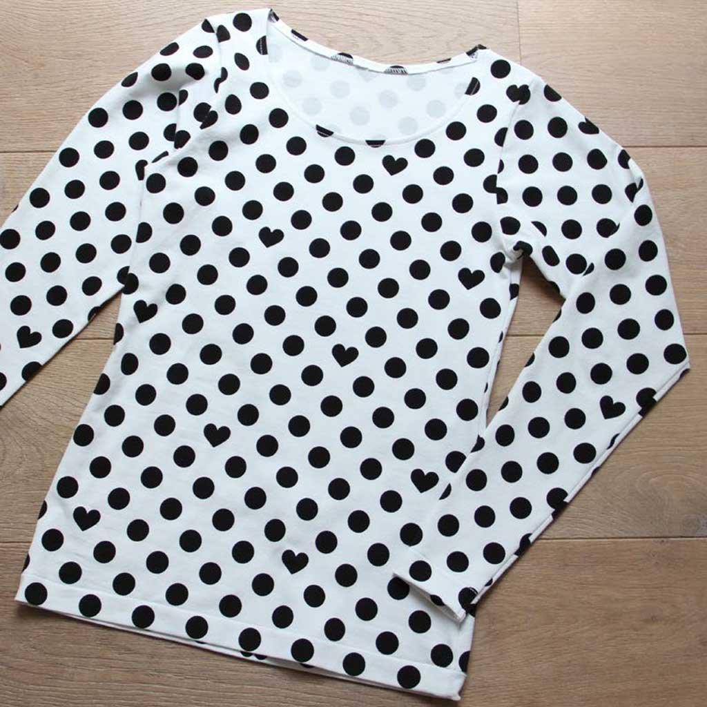 Střih - dámské triko s dlouhým rukávem