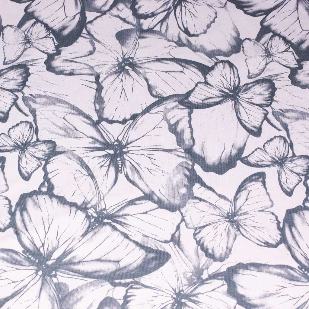 Teplákovina - motýli světle růžová