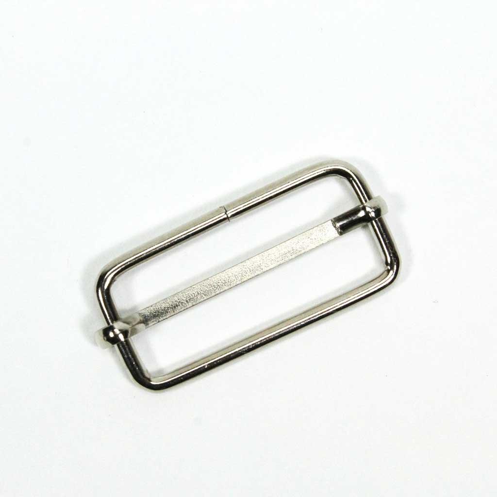 Kovový posunovač popruhů 20 mm- stříbrná