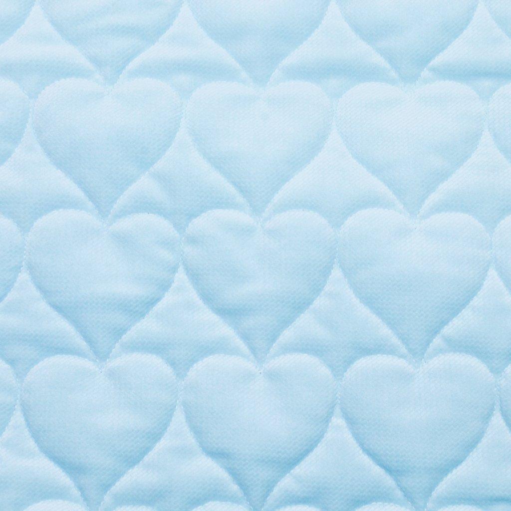 Velvet srdce - světle modrá