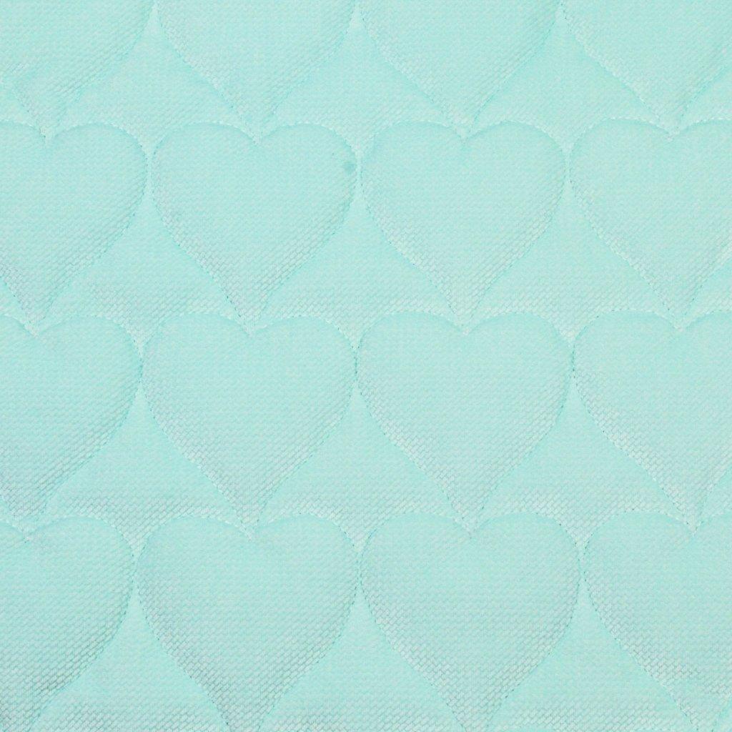 Velvet srdce - světle mentolová