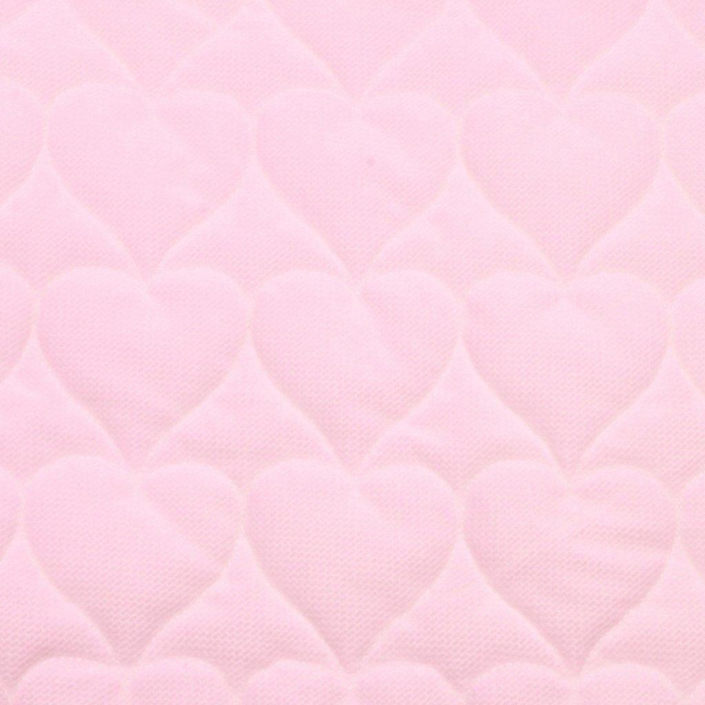 Velvet srdce - růžová
