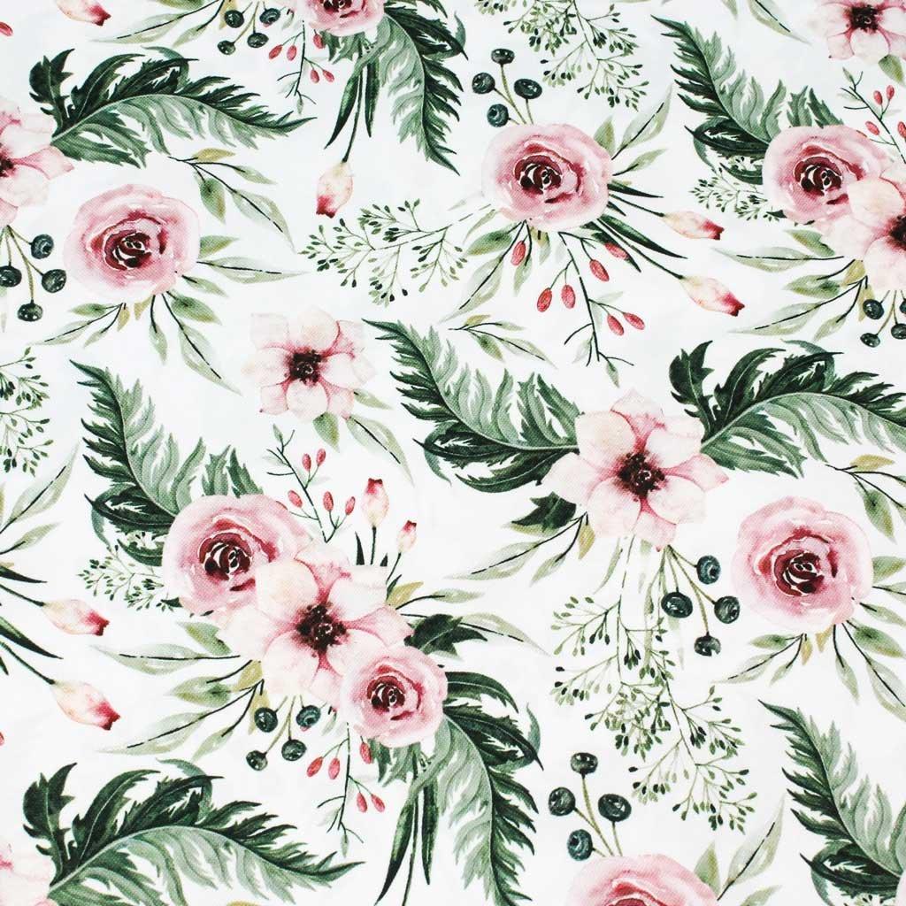 květy na bílé