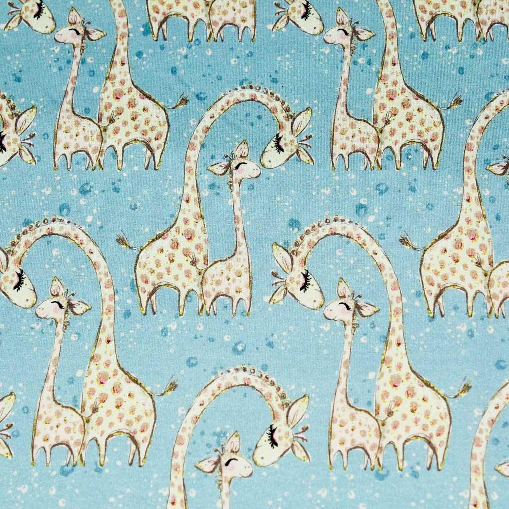 Teplákovina - žirafa modrá