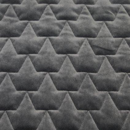 Velvet korunky - tmavě šedá