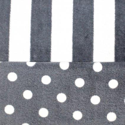 Wellsoft - šedé puntíky a pruhy