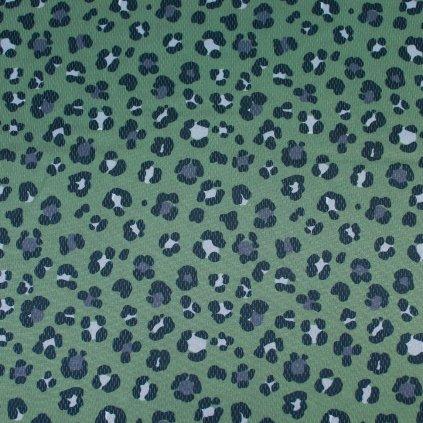 INTERLOCK SPORT- leopard zelený