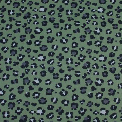Úplet SPORT - leopard zelený