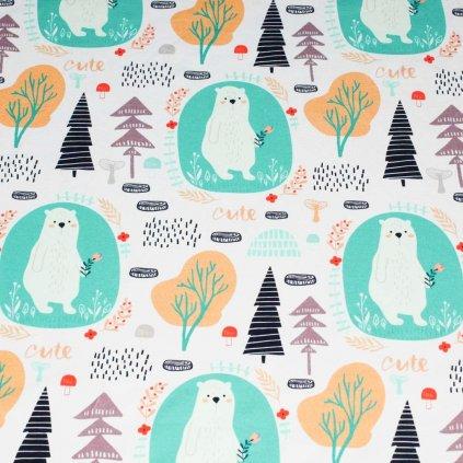 Teplákovina - medvěd v lese