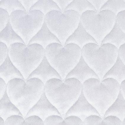Velvet srdce - světle šedá