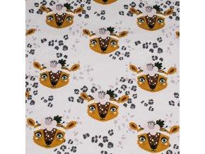 Teplákovina - Hlavy leopard růžový