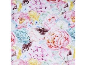 Teplákovina - Květy a peříčka