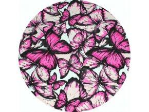 Teplákovina - Motýli růžová