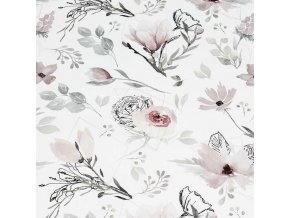 Bavlněná látka PREMIUM - Kvetoucí květy