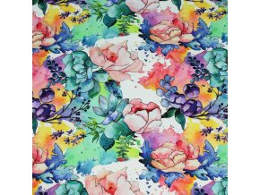 malované květy