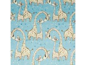 modré žirafy