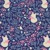 Softshell zimní - liška na tmavě modré