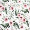 Úplet SPORT - Květy na bílé