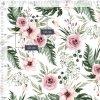 Bavlněná látka PREMIUM - Květy na bílé