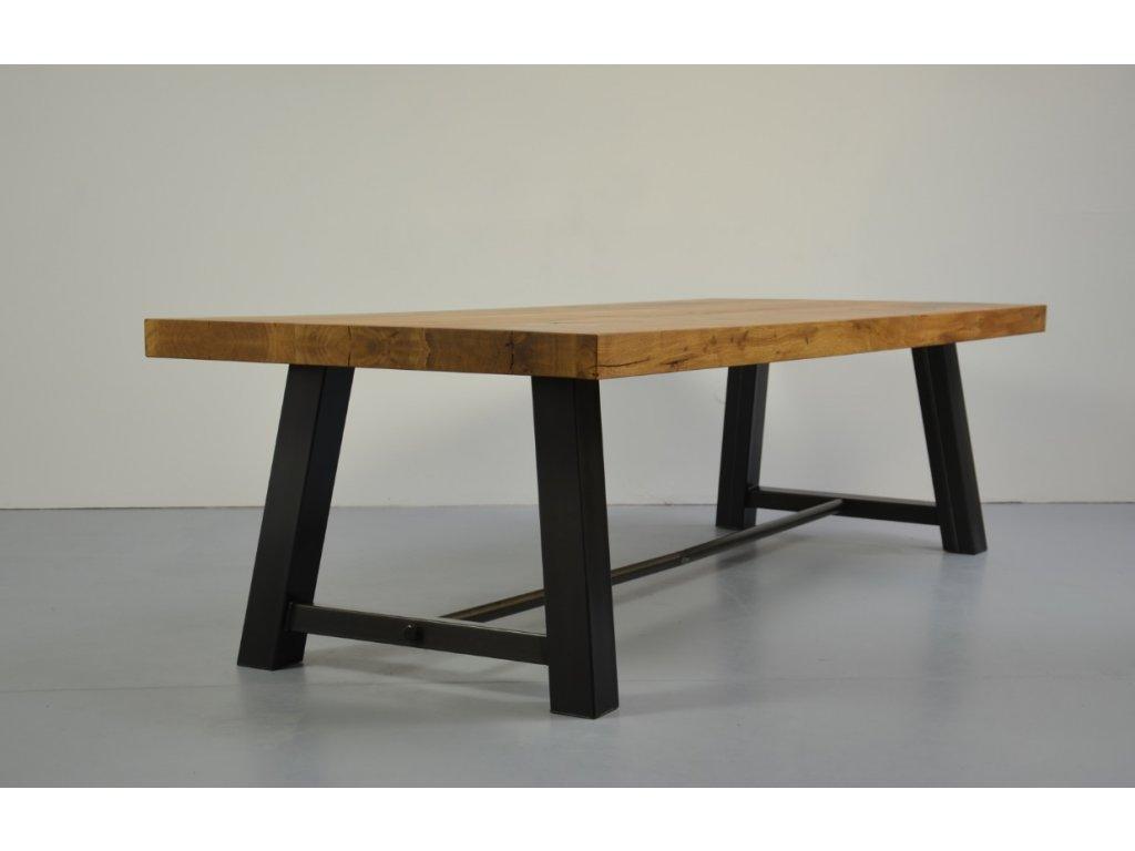 Dřevěný jídelní stůl DUB (délka 300 cm, šířka 120 cm, výška 80 cm)