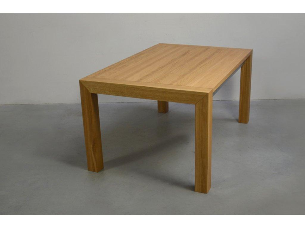 Rozkládací jídelní stůl z masivního dubového dřeva (délka 300 cm, šířka 80 cm, výška 80 cm)