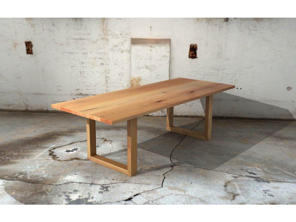 Masivní jídelní stůl z bukového masivu + rám z masivu