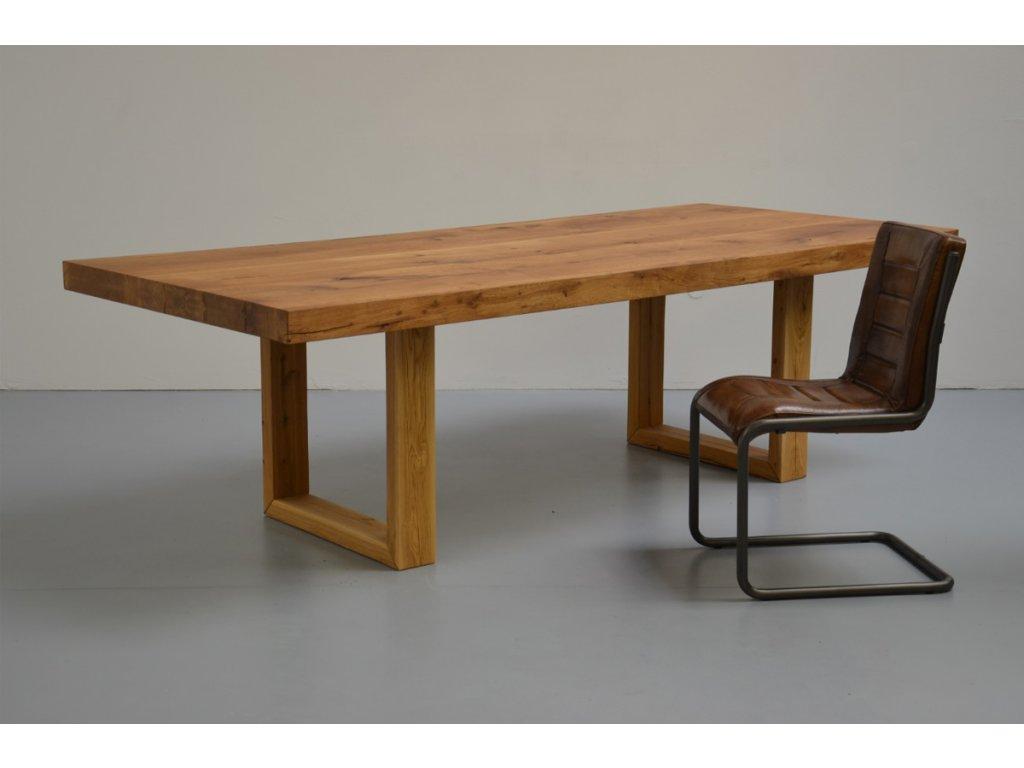 Masivní jídelní stůl z dubového masivu + rám z masivu