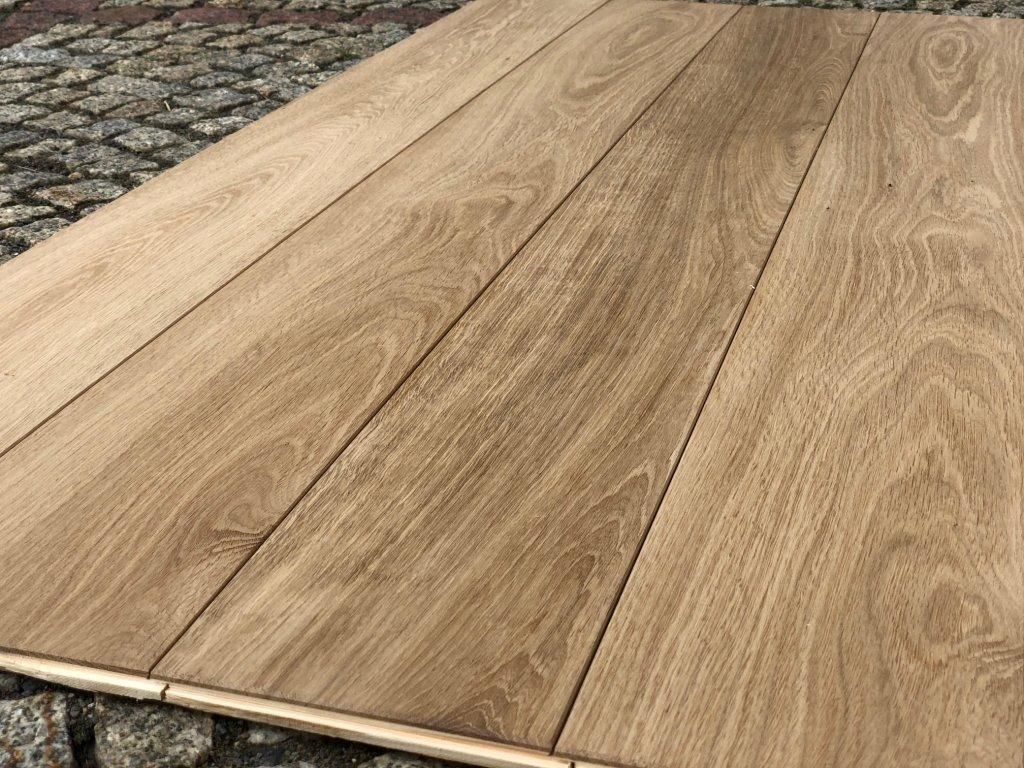 Dubová vrstvená podlaha - vrstvené (bez nátěru) 15*180mm, top kvalita A1