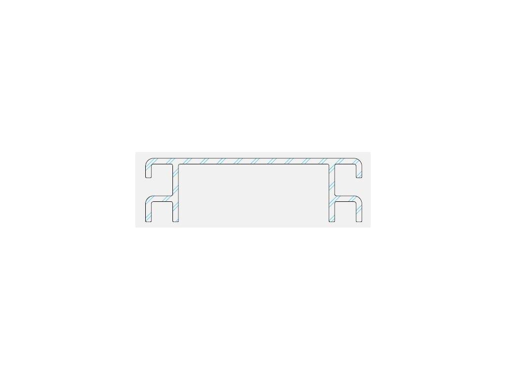 Ventilační mřížka k terasovému profilu P 9360 - odstín 12 černá