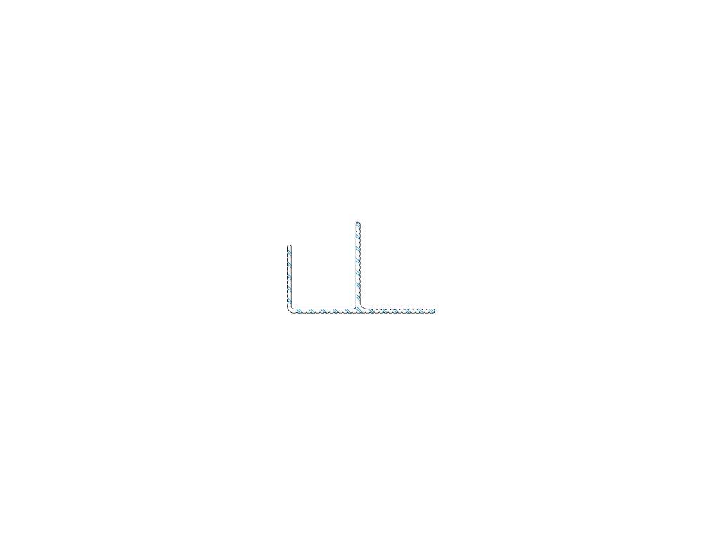 Okopový hliníkový profil F, 40 / 65 mm - 6m - odstín 65 elox